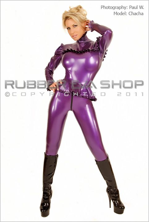 Female Rubber Leggings