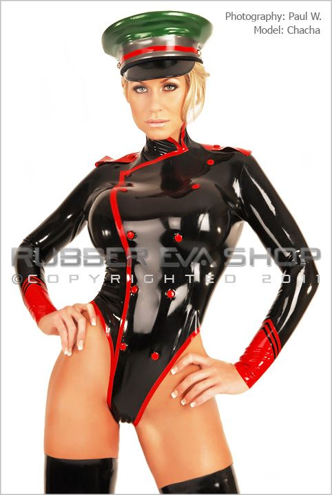 Rubber Military Leotard