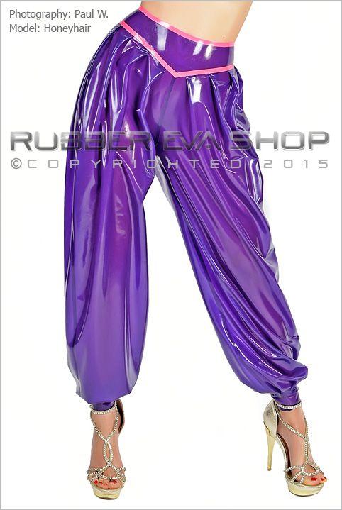 High Waist Rubber Harem Pants