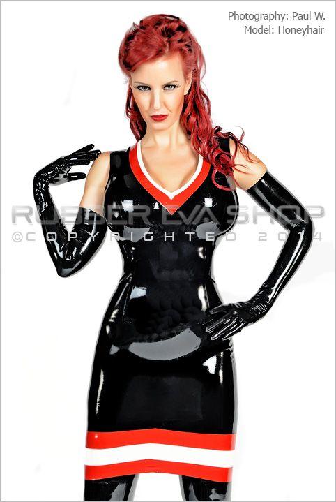 Madame Chevron Latex Suit