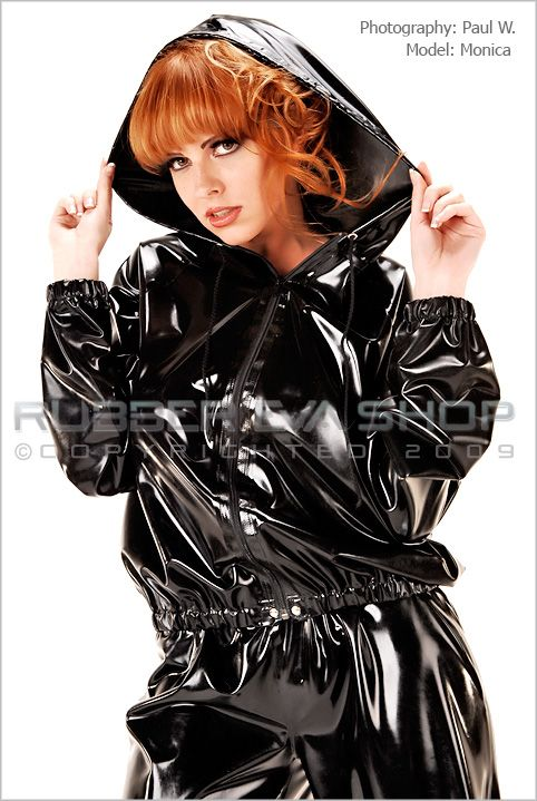 Hooded Rubber Tracksuit Jacket