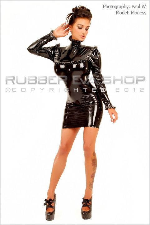 Frilly Rubber Governess Mini Dress
