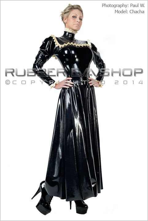 Long Flared Rubber Governess Dress