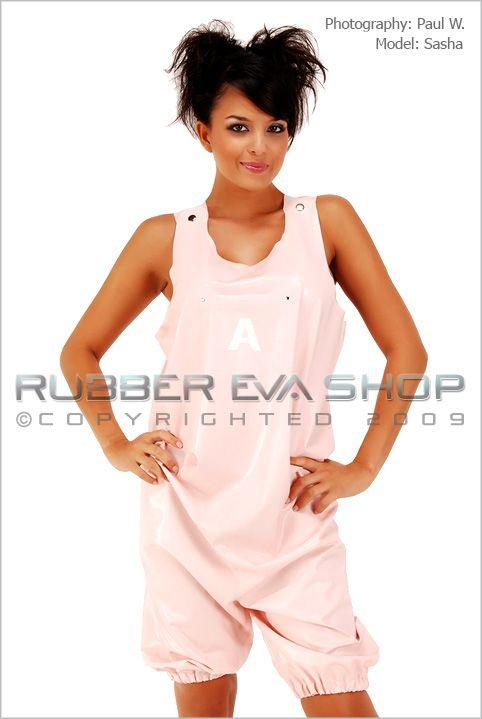 Rubber Romper Shorts