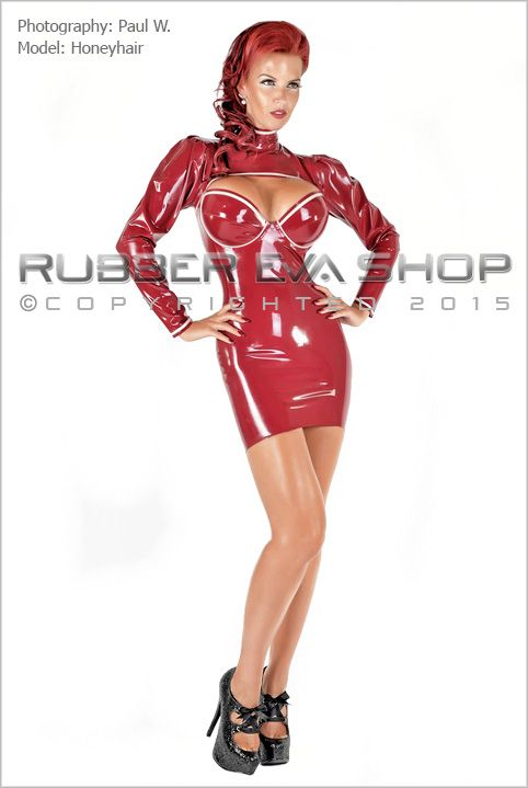 Puffed Sleeve Underwired Rubber Dress