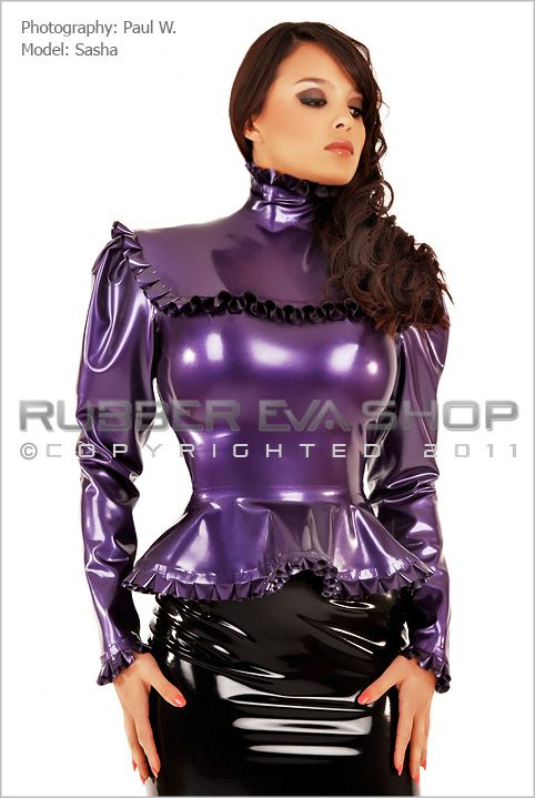 Rubber Governess Blouse