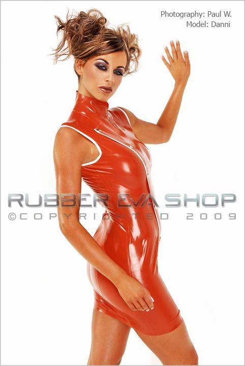 Short Rubber Nurses Tabbard Dress