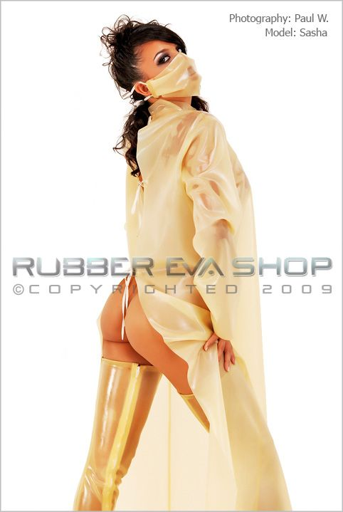 Rubber Surgeons Gown & Mask