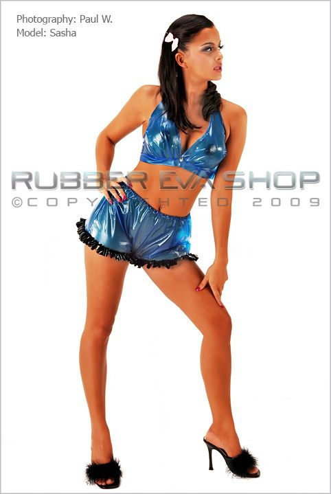 Frilly Plastic Cami Knickers