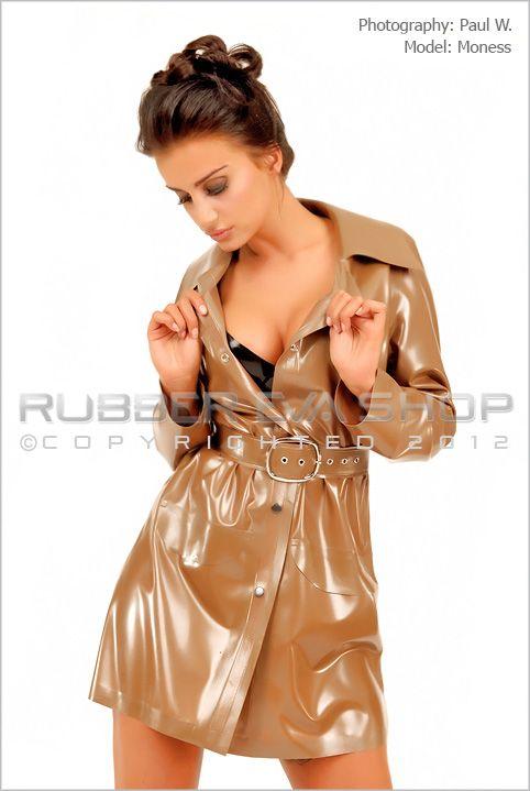 Short Rubber Trench Coat