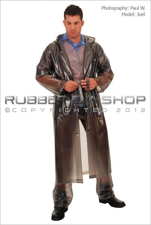 Mens Long Plastic Raincoat