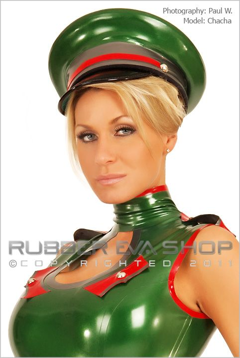 Officers Rubber Peaked Cap