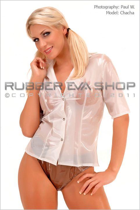 Short Sleeved Plastic Blouse