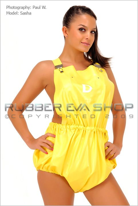 Rubber Dungaree Pants