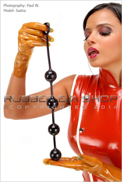 Solid String Of Rubber Anal Balls