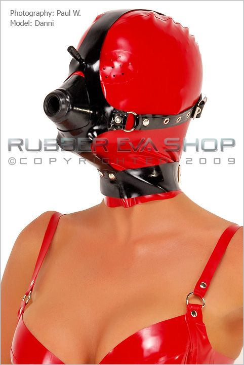 Rubber Anaesthesia Hood With Harness