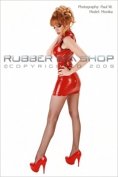 Fitted Rubber Mini Skirt