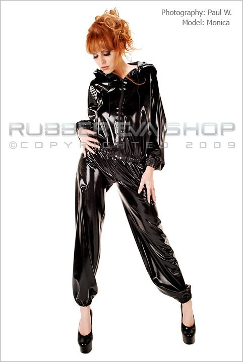 Mens Hooded Rubber Tracksuit