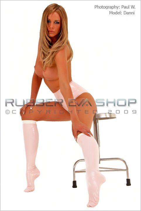 Rubber Knee Socks