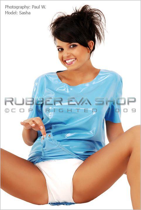 Short Adult Baby Rubber Onesie