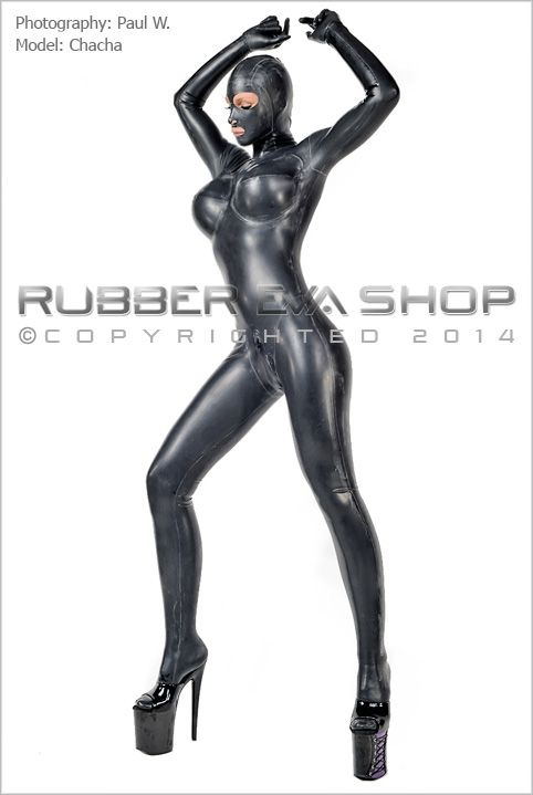 Total Enclosure Underwired Rubber Catsuit