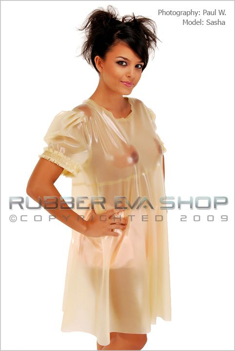Frilly Rubber Smock