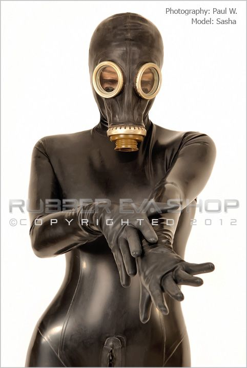 Russian Gas Mask Total Enclosure Rubber Catsuit