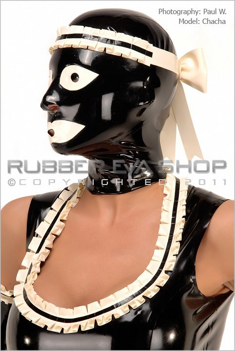 Frilly Rubber Maids Hood
