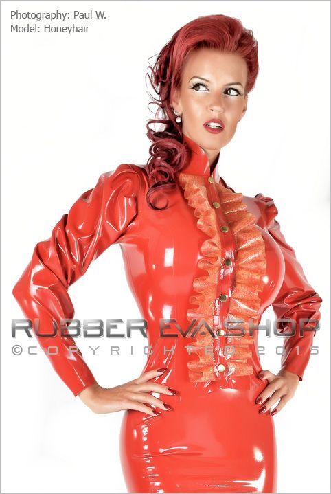 Lace Latex Frilly Blouse