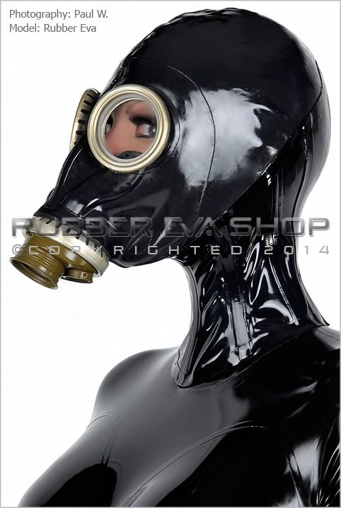 Rubber Russian Gas Mask Neck Corset