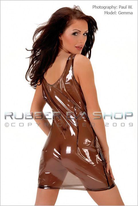 Plastic Sleeveless Mini Dress
