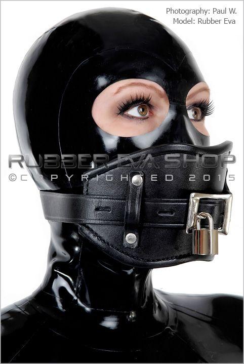 Lockable Leather Gag Harness