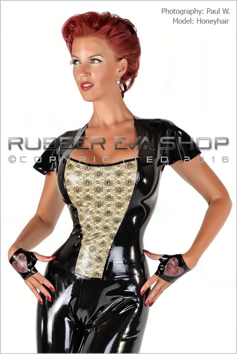Laced Latex Panel Rubber Top