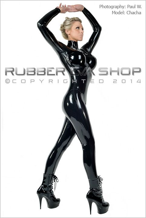 Underwired Breast Cup Rubber Catsuit