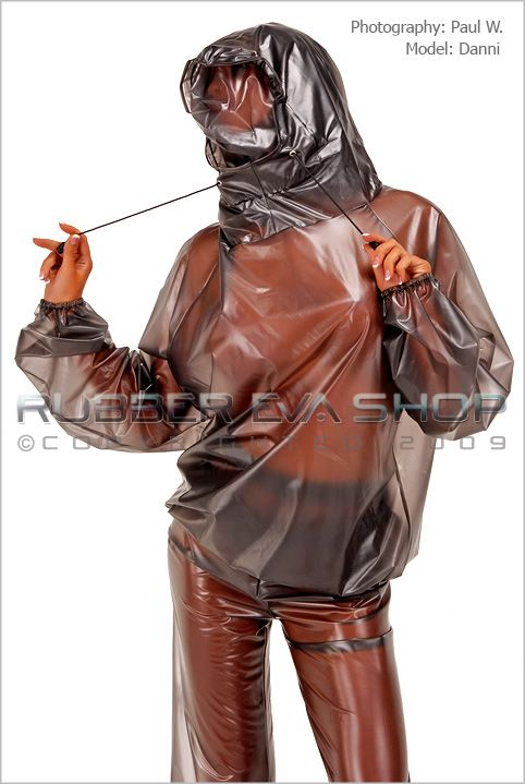 Plastic Hooded Breathplay Top
