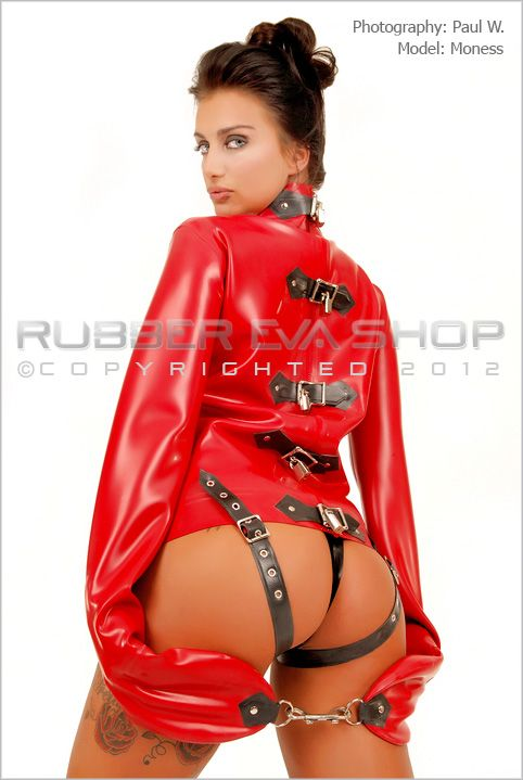 Lockable Rubber Straight Jacket