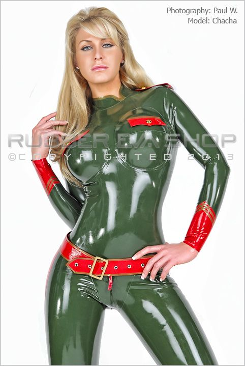 Underwired Military Rubber Catsuit