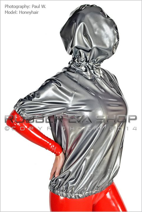 Short Sleeved Hooded Rubber Breath play Top