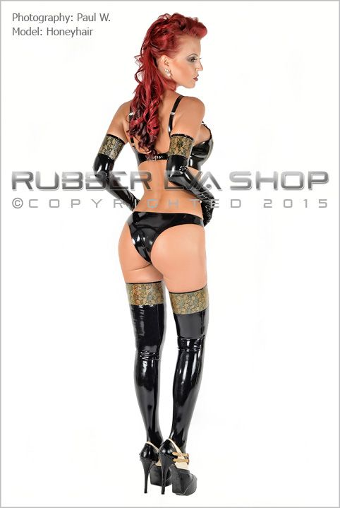 Laced Latex Stockings