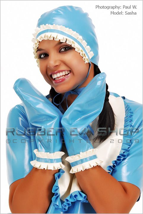 Frilly Rubber Adult Baby Bonnet