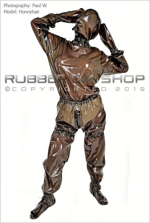 Loose Fitting Total Enclosure Hooded Latex Suit