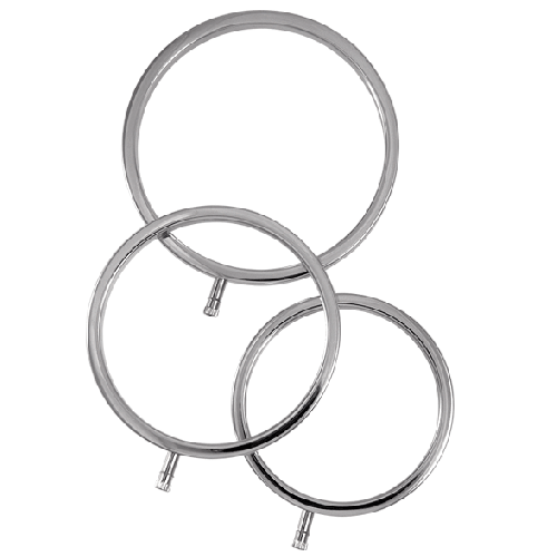ELECTRASTIM SOLID METAL SCROTAL RINGS (3 PACK)