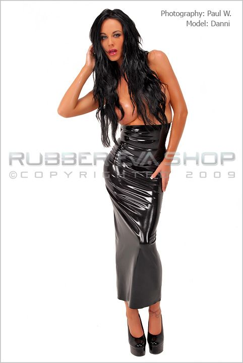 Ankle Length Rubber Hobble Skirt