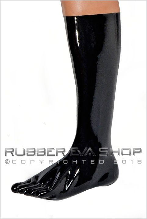 Knee Length Latex Toe Socks