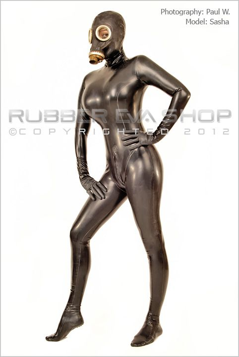 MALE FIT RUSSIAN GAS MASK TOTAL ENCLOSURE RUBBER CATSUIT