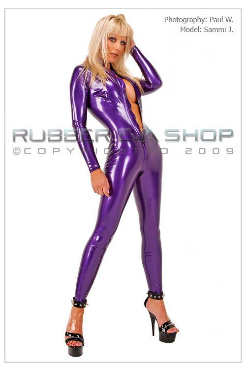 Front Zip Rubber Catsuit