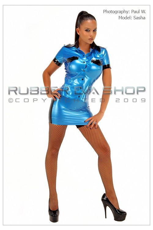 Rubber Police Officer Uniform