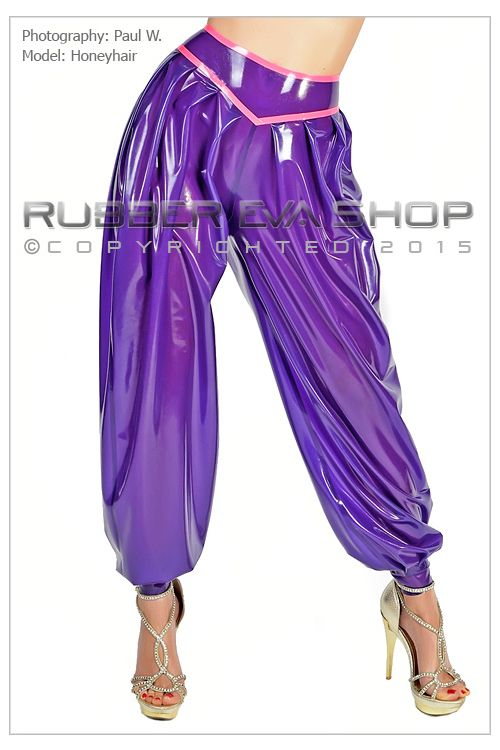High Waist Rubber Harem Pants