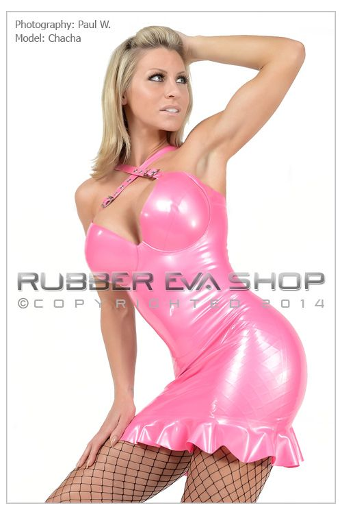 Underwired Rubber Cocktail Dress
