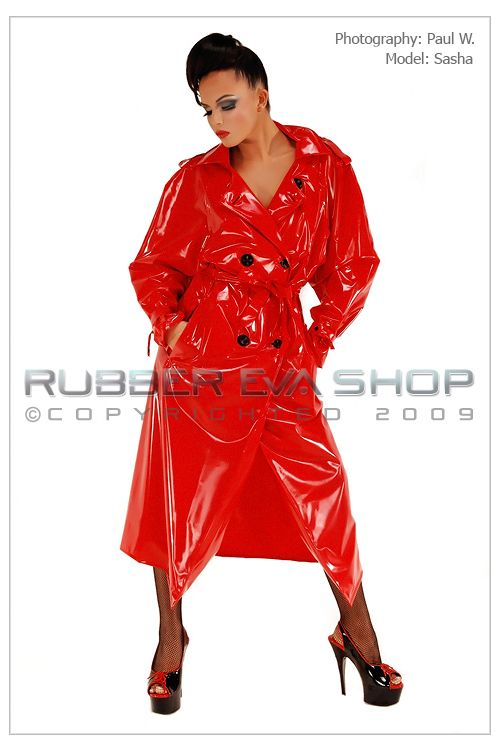 Long PVC Trenchcoat